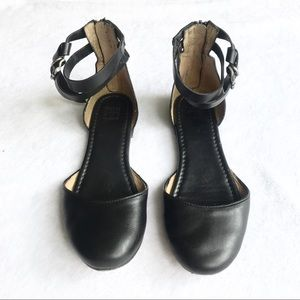 Frye Black Ankle Zip Leather Closed Toe Shoes